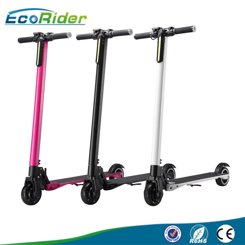 5 Inch Carbon Fiber Electric Scooter Foldable 250W With LCD Screen