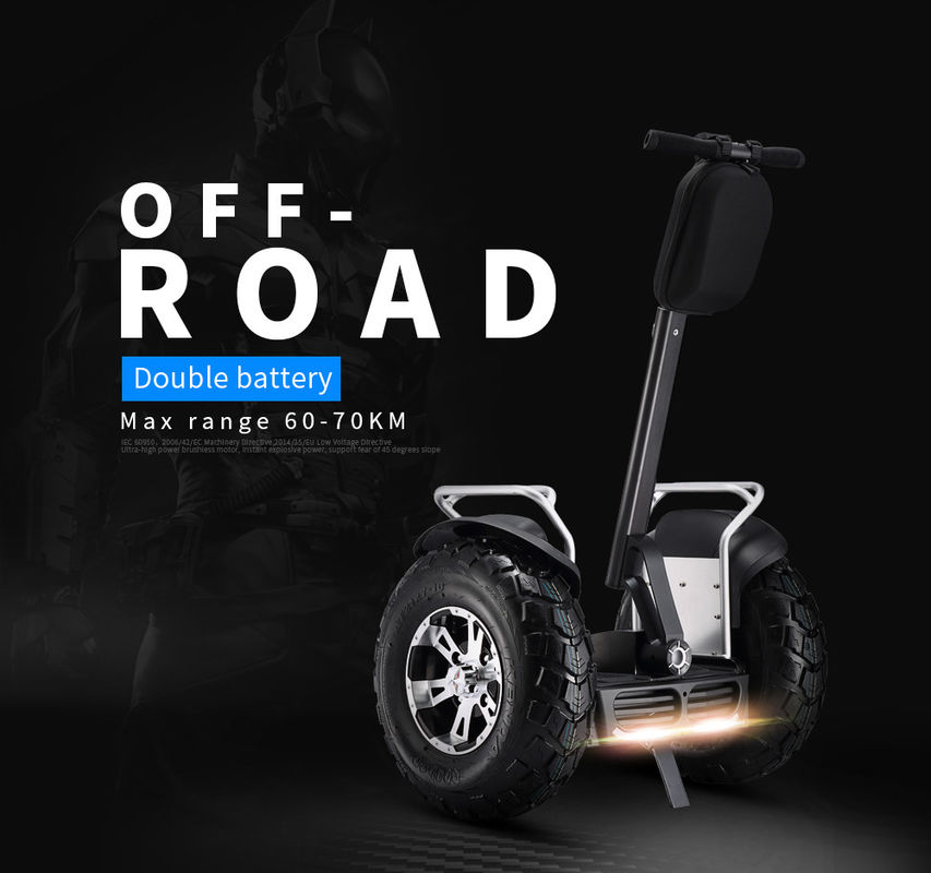 Dual Battery 2 Wheels off-Road 4000W 72V Samsung Electric Self Balance Scooter Chariot